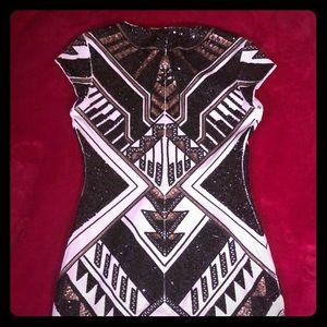Express Holiday Sequin Dress